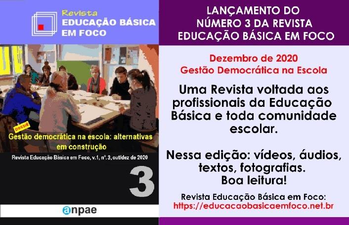 Lançamento do número 3 da Revista Educação Básica em Foco